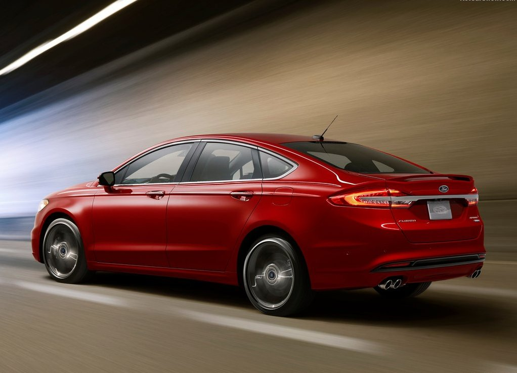 Ford Fusion 2019 Rear angle Red Color