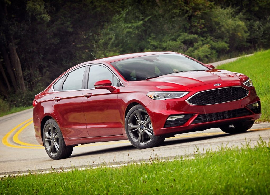 Ford Fusion 2019 red Color Facelift
