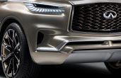 2018 Infiniti QX80 Monograph Front Angle Grill and Fog Light