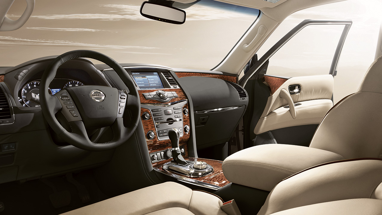 2018 Nissan Armada Interior Changes With New Dashboard Material From Wood
