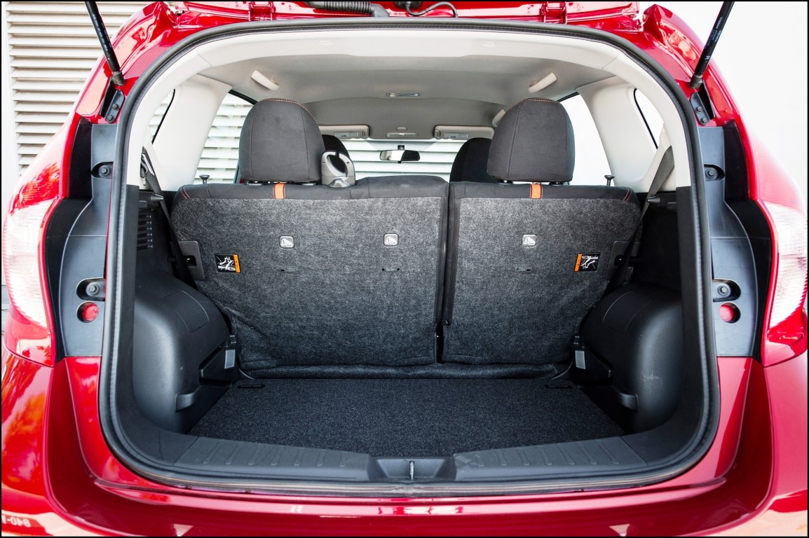 2018 Nissan Versa Note Trunk Capacity