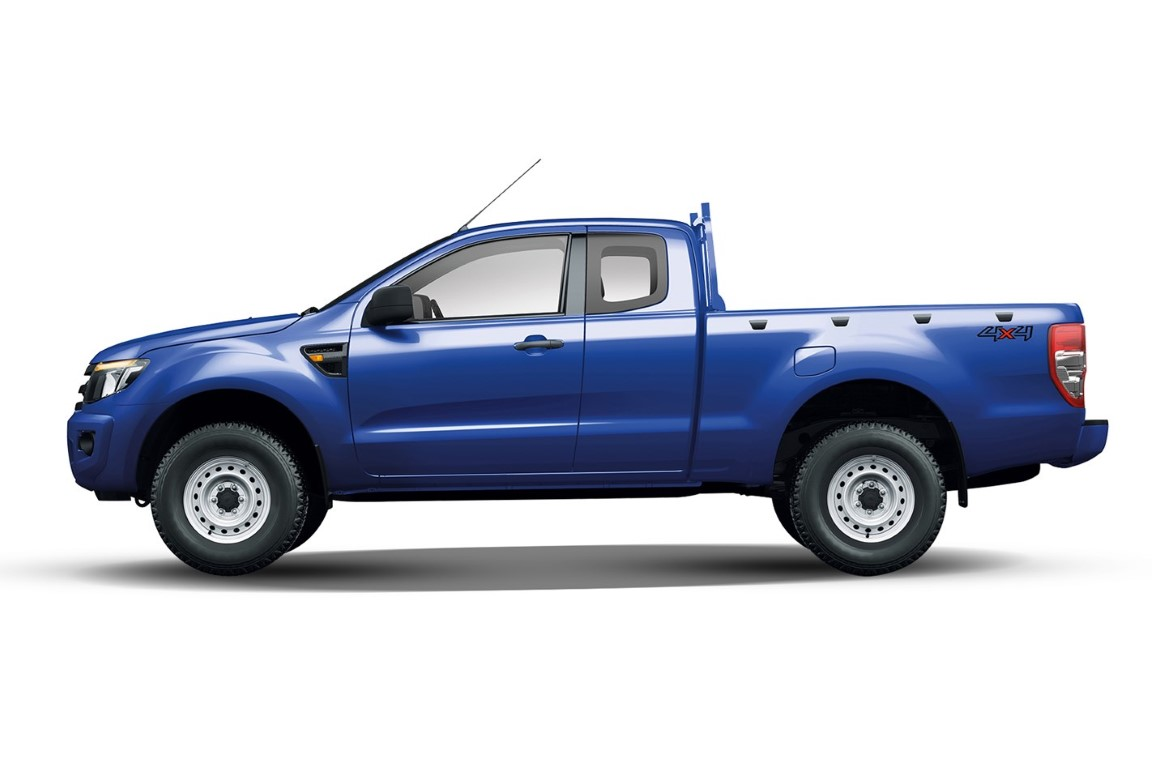 Ford crew cab 2018 Truck Blue Color