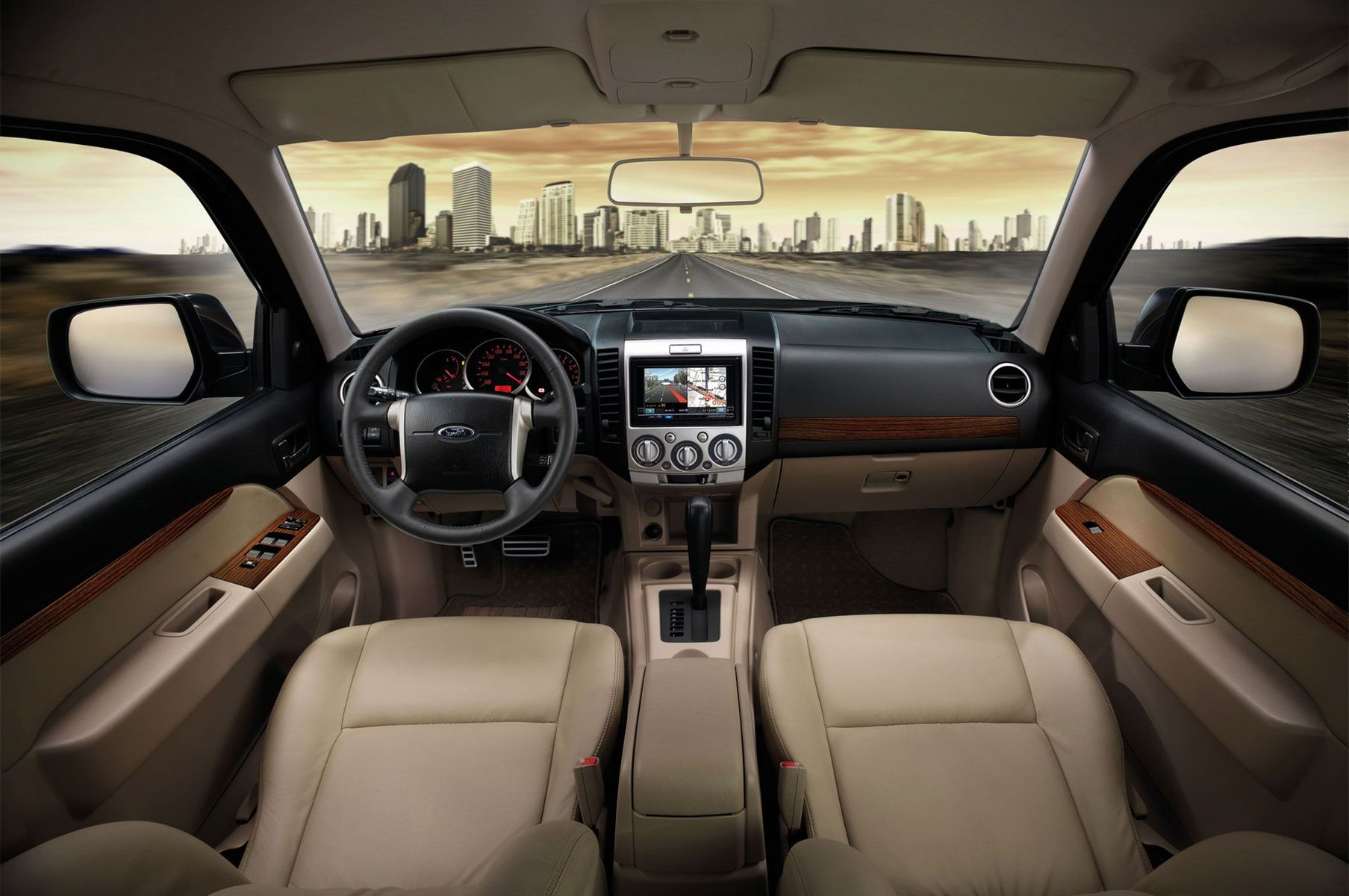 2019 Ford Everest Interior Capacity Space