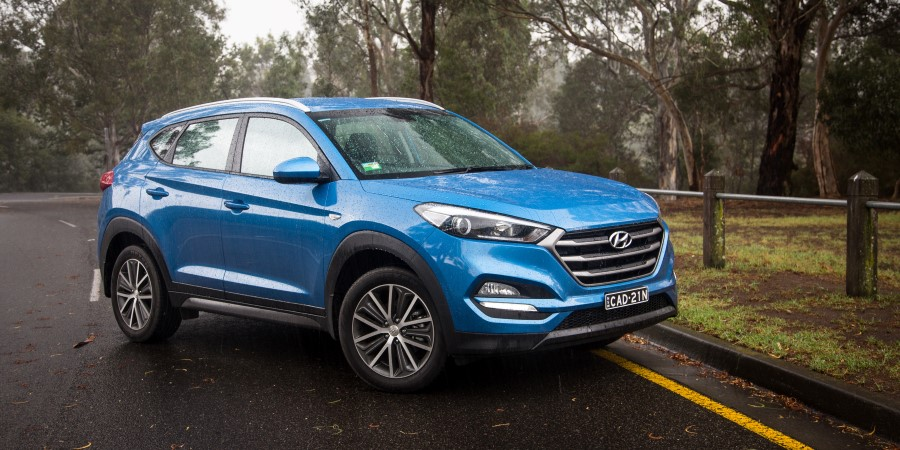 2019 Hyundai Tucson Blue Colors Exterior Photos