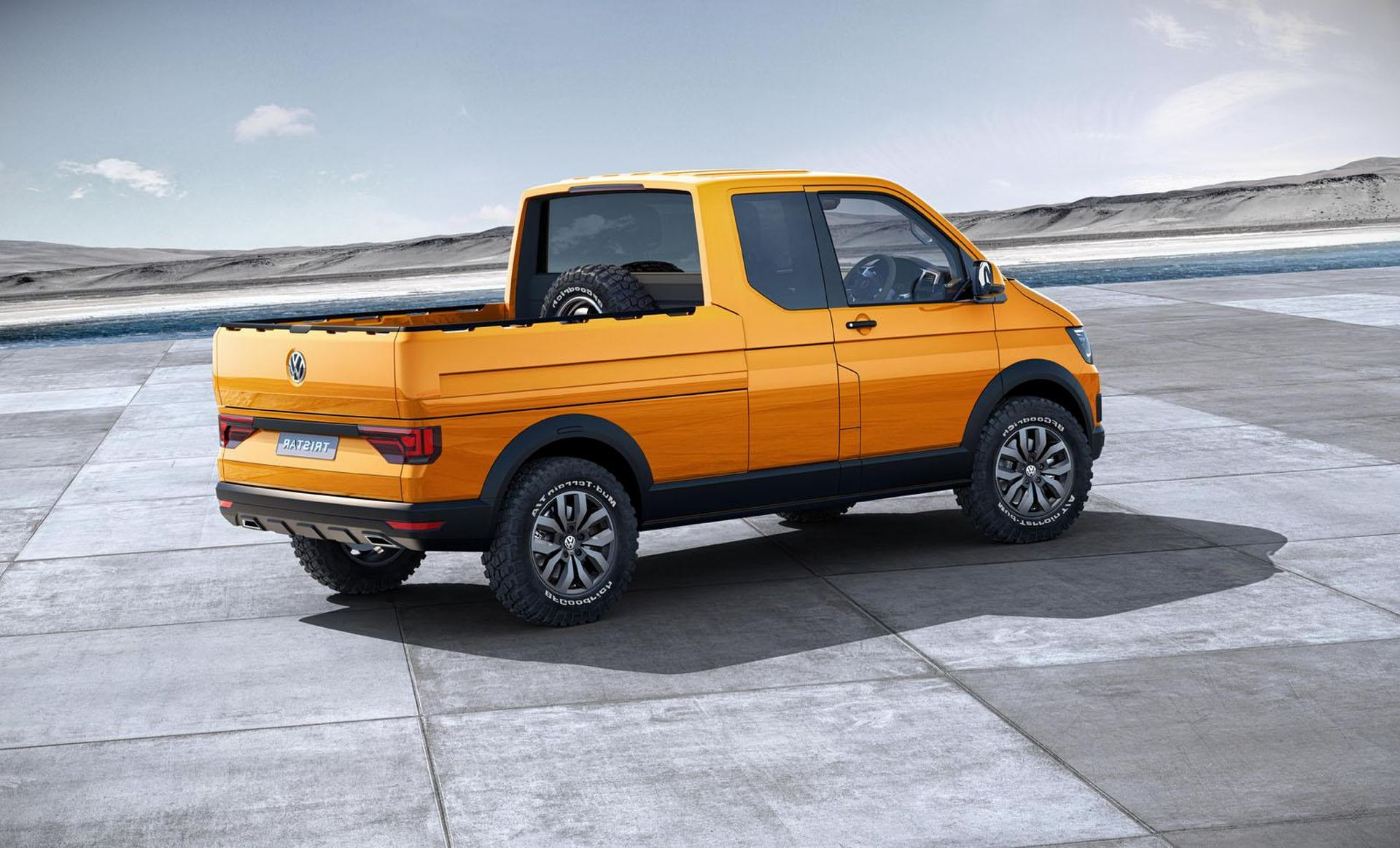 2019 Volkswagen Amarok Yellow Color