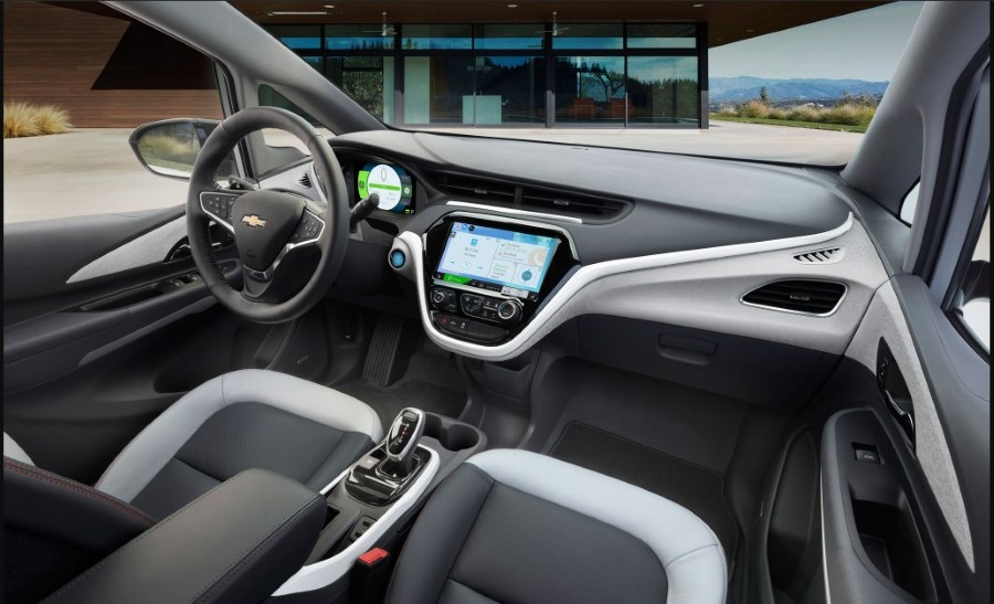 Interior of New 2019 Chevy Bolt EV SUV