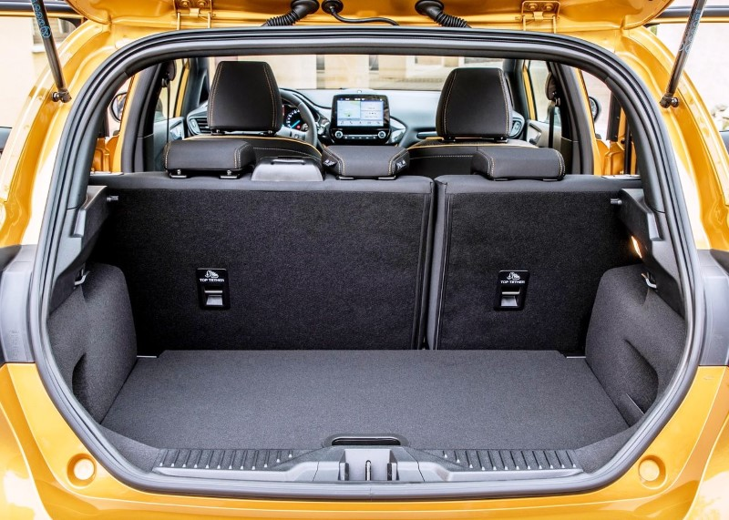 2019 Ford Fiesta Active Trunk Capacity