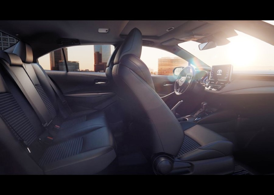 2020 Toyota Corolla Sedan Interior Capacity