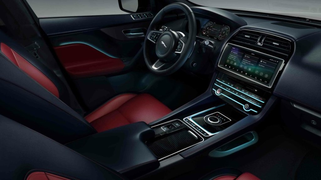 2020 Jaguar F-Pace Checkered Flag Interior