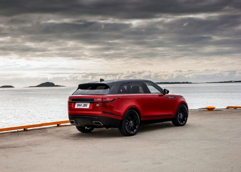 2020 Range Rover Velar SVR Red Colors